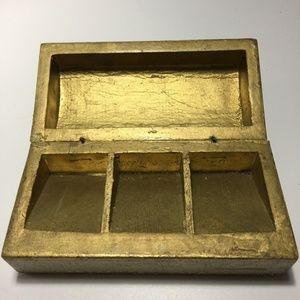 Vintage Storage & Organization - Vintage Florentia Gold Leaf Desser Box